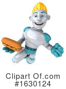 Blond Robot Clipart #1630124 by Julos