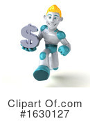 Blond Robot Clipart #1630127 by Julos