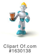 Blond Robot Clipart #1630138 by Julos