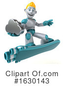 Blond Robot Clipart #1630143 by Julos