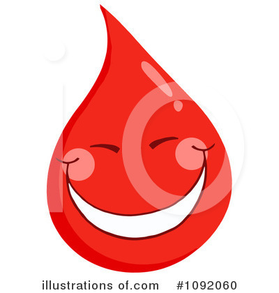 Blood Drop Character Clipart #1092060 by Hit Toon