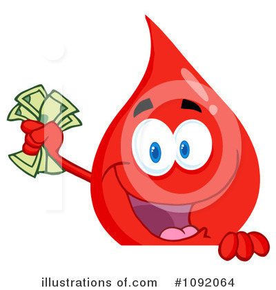 Blood Drop Character Clipart #1092064 by Hit Toon