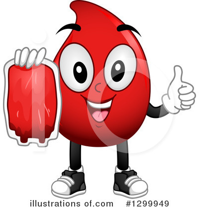 Blood Drop Character Clipart #1299949 by BNP Design Studio