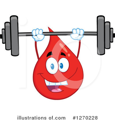 Blood Drop Character Clipart #1270228 by Hit Toon