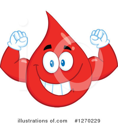 Blood Drop Character Clipart #1270229 by Hit Toon