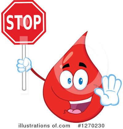 Blood Drop Character Clipart #1270230 by Hit Toon