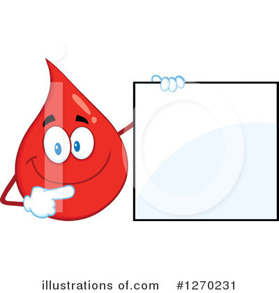 Blood Drop Character Clipart #1270231 by Hit Toon