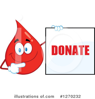 Blood Drop Character Clipart #1270232 by Hit Toon