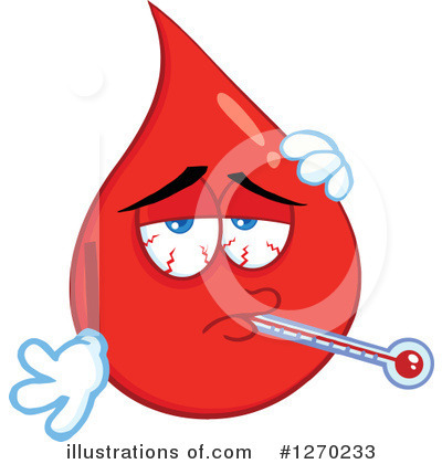 Blood Drop Character Clipart #1270233 by Hit Toon
