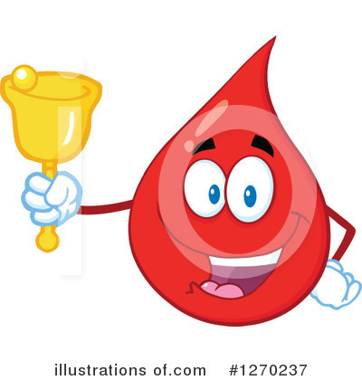 Blood Drop Character Clipart #1270237 by Hit Toon