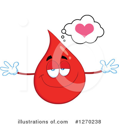 Royalty-Free (RF) Blood Drop Character Clipart Illustration by Hit Toon - Stock Sample #1270238