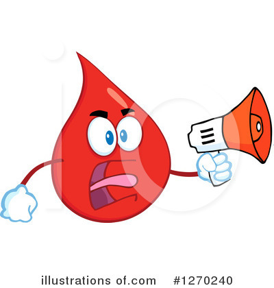 Blood Drop Character Clipart #1270240 by Hit Toon