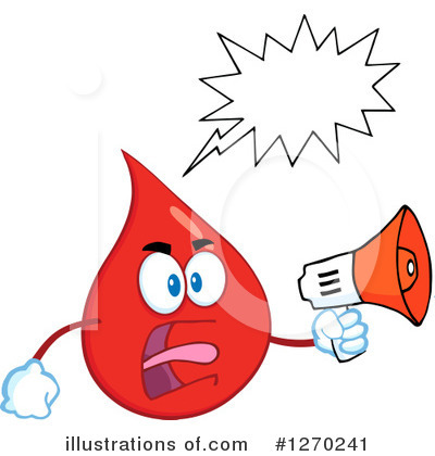 Blood Drop Character Clipart #1270241 by Hit Toon