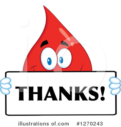 Blood Drop Character Clipart #1270243 by Hit Toon