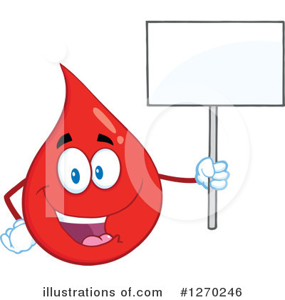 Blood Drop Character Clipart #1270246 by Hit Toon