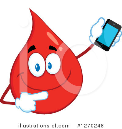 Blood Drop Character Clipart #1270248 by Hit Toon