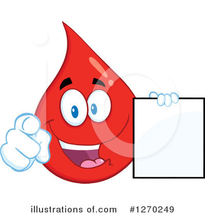 Blood Drop Character Clipart #1270249 by Hit Toon