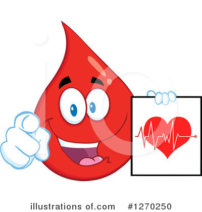 Blood Drop Character Clipart #1270250 by Hit Toon