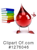 Blood Drop Character Clipart #1276046 by Julos