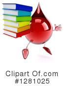 Blood Drop Character Clipart #1281025 by Julos
