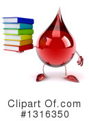 Blood Drop Character Clipart #1316350 by Julos