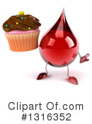 Blood Drop Character Clipart #1316352 by Julos