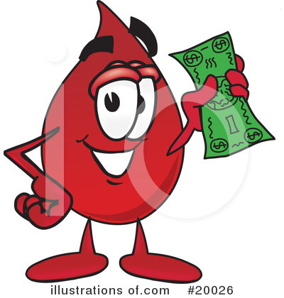 Blood Drop Character Clipart #20026 by Toons4Biz