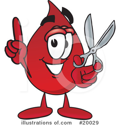 Blood Drop Character Clipart #20029 by Toons4Biz