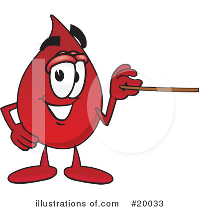 Blood Drop Character Clipart #20033 by Toons4Biz