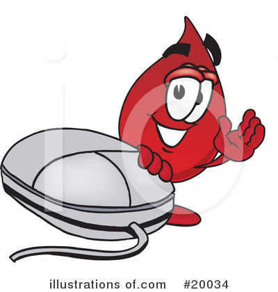 Blood Drop Character Clipart #20034 by Toons4Biz
