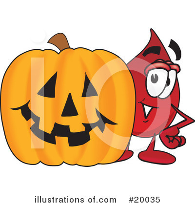 Blood Drop Character Clipart #20035 by Toons4Biz