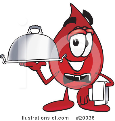 Blood Drop Character Clipart #20036 by Toons4Biz