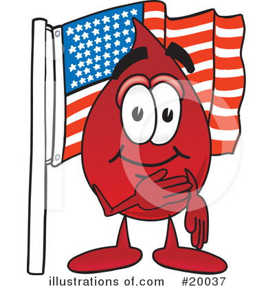 Blood Drop Character Clipart #20037 by Toons4Biz