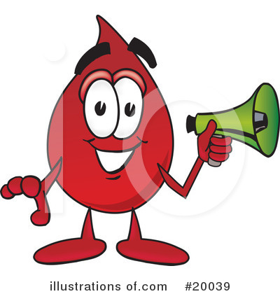 Blood Drop Character Clipart #20039 by Toons4Biz