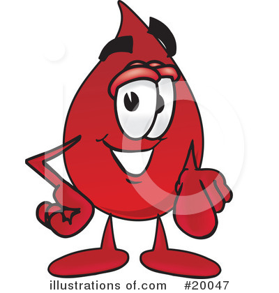 Royalty-Free (RF) Blood Drop Character Clipart Illustration by Toons4Biz - Stock Sample #20047
