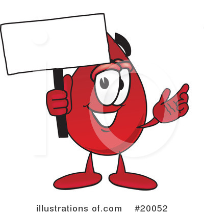Blood Drop Character Clipart #20052 by Toons4Biz