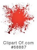 Blood Splatter Clipart #68887