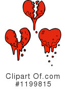 Bloody Heart Clipart #1199815 by lineartestpilot