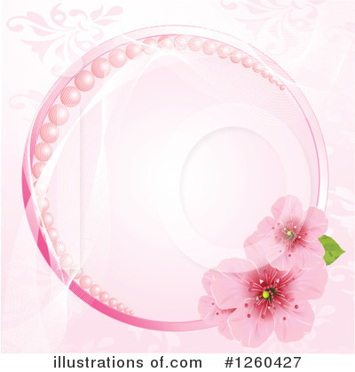 Royalty-Free (RF) Blossoms Clipart Illustration by Pushkin - Stock Sample #1260427