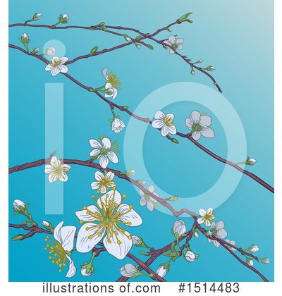 Blossoms Clipart #1514483 by AtStockIllustration