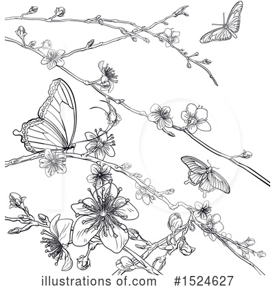 Blossoms Clipart #1524627 by AtStockIllustration