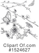Royalty-Free (RF) Blossoms Clipart Illustration #1524627