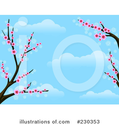 Cherry Blossoms Clipart #230353 by BNP Design Studio