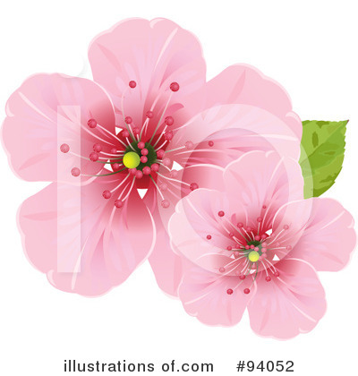 Royalty-Free (RF) Blossoms Clipart Illustration by Pushkin - Stock Sample #94052