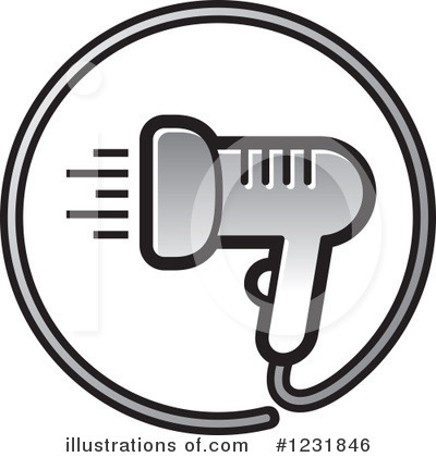Blow Dryer Clipart #1231846 by Lal Perera