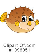 Royalty-Free (RF) blowfish Clipart Illustration #1096951