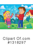 Royalty-Free (RF) Blowing Bubbles Clipart Illustration #1318297