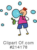Royalty-Free (RF) Blowing Bubbles Clipart Illustration #214178