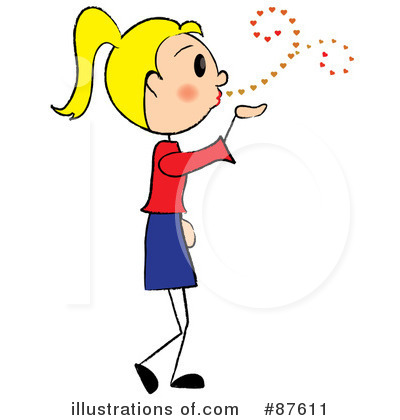 Blowing Kisses Clipart #87611 by Pams Clipart
