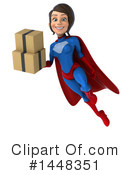 Blue And Red Female Super Hero Clipart #1448351 by Julos